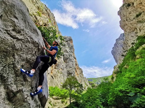 Rock climbing in Paklenica National Park